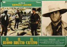 The Good, The Bad & The Ugly Italian fotobusta poster R72. Sergio Leone, Clint Eastwood, Lee Van Cleef