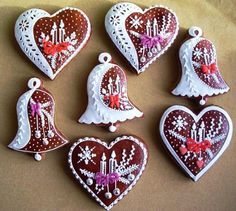 beautiful and different Christmas cookies. : beautiful and different Christmas cookies. Christmas Sugar Cookies, Holiday Cookies, Christmas Treats, Christmas Baking, Gingerbread Cookies, Christmas Mix, Fancy Cookies, Iced Cookies, Cookies Et Biscuits