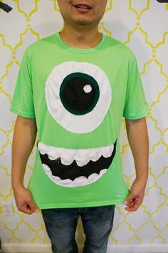 DIY Monster's Inc Costumes | Jay's Cup  Mike wazowski