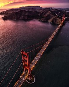 Golden Gate Bridge by jimmy chin by San Francisco Feelings San Francisco Sites, Living In San Francisco, San Francisco California, California Dreamin', San Fransisco, Most Beautiful Cities, Amazing Places, Amazing Destinations, Golden Gate Bridge