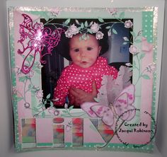 Dragons Lair Designs O Baby Mine Kit Scrapbook page & Marianne butterfly die