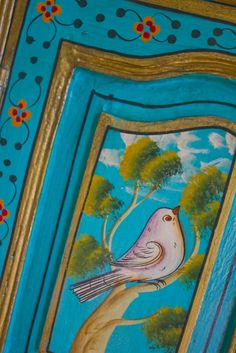 Mexican Painted Furniture | The Manzanita Cottages and Gardens | Laguna Dirt