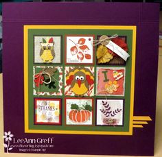 Great Thanksgiving sampler-would be cute in a frame.