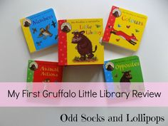My First Gruffalo Little Library Review - a wonderful set of four small board books perfect for toddlers
