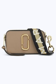Marc Jacobs Logo Strap Snapshot Small Camera Bag in French Grey