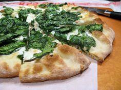 Spinach, White Bean, and Taleggio Pizza