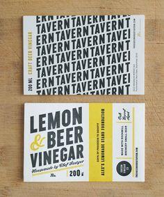 Tavern Vinegar Co. - ChristineWisnieski label logo packaging type typography minimal graphic design