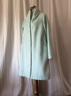 Mintgreen wool winter coat HAVRAN Unique Outfits, Winter Coat, High Neck Dress, Wool, Clothes, Dresses, Fashion, Turtleneck Dress, Outfits