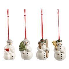 Christmas Tree Decorations Nostalgic Snowmen Set of 4 by Villeroy and Boch at Dotmaison