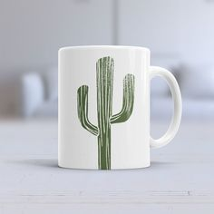 Cactus Ceramic Mug Coffee / Tea Mug Cup