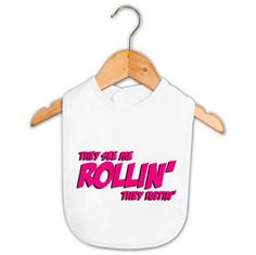 They See Me Rollin' They Hatin' Baby Bib   Baby Gifts   Word On Baby