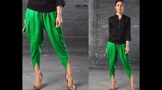 Tulip Salwar (Tulip Pants) - Drafting, Cutting & Stitching ( DIY ) - EAS...