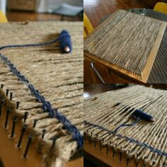 How to build a loom from a picture frame