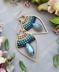 17 Outstanding Styles To Wear Beaded Tassel Earrings Bead Jewellery, Beaded Jewelry, Jewelery, Silver Jewelry, Fine Jewelry, Jewelry Making, Larimar Jewelry, Silver Ring, Beaded Tassel Earrings