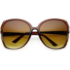 99ab74c86f3 Women s 1960 S Retro Oversize Square Sunglasses 9745 ( 9.99) ❤ liked on  Polyvore featuring accessories