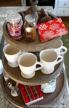 hot chocolate tray