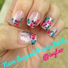 Neon Leopard Prints Nails by my manicurist! It's love!