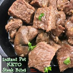 Instant Pot Keto Steak Bites (Paleo/Whole30)
