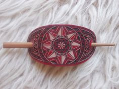 Hand carved leather hair barrette  hair by DIONESAMBROZIUS on Etsy