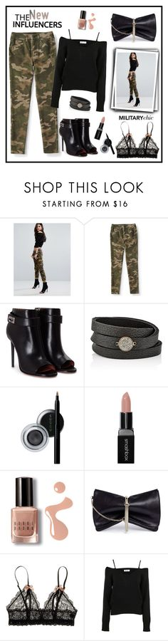 """Military Chic!"" by diane1234 ❤ liked on Polyvore featuring G-Star, Aéropostale, Givenchy, Feathered Soul, SUQQU, Smashbox, Bobbi Brown Cosmetics, Jimmy Choo, Hanky Panky and Dondup"