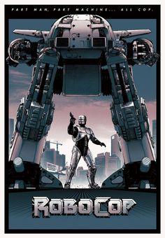 Matt Ferguson RoboCop Poster For Grey Matter Art Best Movie Posters, Movie Poster Art, New Poster, Cool Posters, Pet Sematary, Man In Black, Movie Synopsis, Science Fiction, Alternative Movie Posters