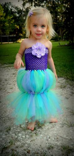 The Little Mermaid Costume, Outfit, tutu, girls dress, Halloween costume, Ariel, Disney costume, Baby, Girl, Toddler, Infant, tulle dress, on Etsy, $29.99