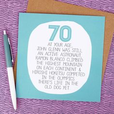 This Funny 70th Birthday Card Is Ideal For The Young At Heart70th And Envelope Will Be Sent In A Sturdy Backed