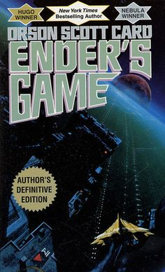 Enders Game by Orson Scott Card. I can remember the first time I read this one. Hollywood will be bringing a version of this book to film and Card just released a prequel called Earth Unaware. Science Fiction Books, Fiction Novels, Fiction Writing, Reading Lists, Book Lists, Free Reading, Ender's Game Book, Child Genius, Orson Scott Card