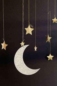 Addobbi di Capodanno - Stelle e luna