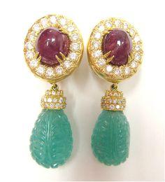 STEVEN NECKMAN- Diamond and Estate Jewelry - David Webb Earrings.