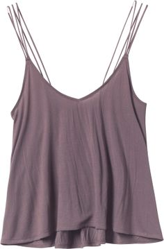 A pretty plum tone tank with delicate layered straps. If you aren't sure about cropped styles, give this a try with some high waisted dark wash denim! $36
