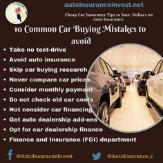 Everyone loves to buy a new car but before buying a new car you should avoid common car buying mistakes. Here are the 10 Common Car buying mistakes to avoid. Low Car Insurance, Car Cost, Compare Cars, Car Buying Tips, Car Quotes, Auto News, Car Finance, Car Prices, Driving Test