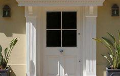Beautiful entrance door with 4-pane design