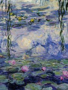 Lilies ~ Claude Monet detail