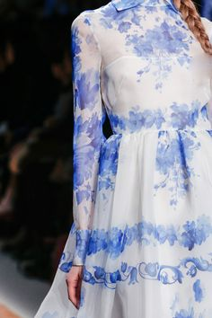 So beautiful. Reminds me of French countryside captured in a dress.