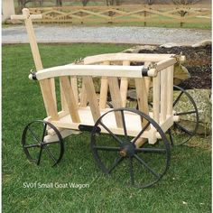Amish Wooden Goat Cart   Small Premium ($240) ❤ Liked On Polyvore Featuring  Home
