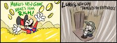 comic strip - I Think We Know Who's Player 2 in This Relationship Mario And Luigi, Mario Kart, Mario Bros, V Games, Funny Games, News Games, Luigi's Mansion 3, Mario Memes, King Boo