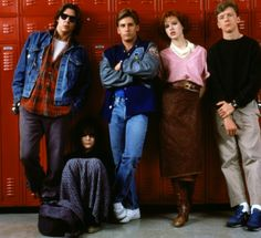 Breakfast Club-1985 Emilio Estevez, Anthony Michael Hall, Judd Nelson, Molly Ringwald, and Ally Sheedy
