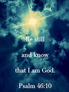 """Think about when you try to put a child's coat on when it is freezing cold outside. We want to protect them to keep them warm because we LOVE them but they wrestle with us and pull away. We tell them to """"be still!"""" God is calling us to """"Be still!"""" so He can protect and love us! ❤️"""