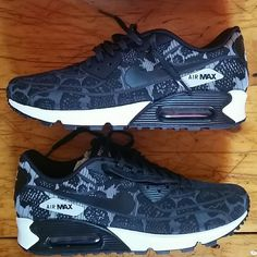 quality design 8cee1 0380a Nike Women s Air Max 90 Jacquard Black n White Looks like lace from one  angle,