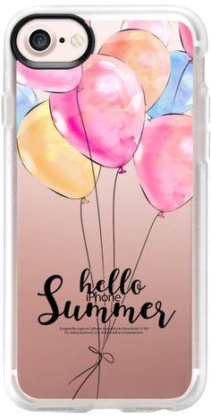 Casetify iPhone 7 Classic Grip Case - Hello Summer Colorful Balloons by Karamfila Siderova