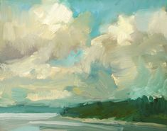Kathryn Townsend Painting Studio: Zangle Clouds -- SOLD