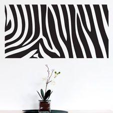 Lovely Zebra Print Wall Sticker Art Decal   22 Colours   Lounge Bedroom Nursery 2  Sizes