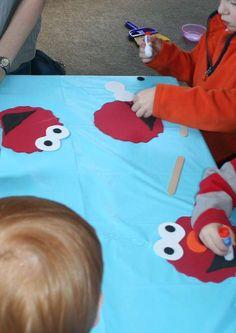 Heather B's Birthday / Elmo - Photo Gallery at Catch My Party Second Birthday Ideas, Elmo Birthday, Boy Birthday Parties, Dinosaur Birthday, Birthday Crafts, Sesame Street Party, Sesame Street Birthday, Sesame Street Signs, Elmo Party
