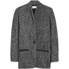 Denver tweed coat (£213) ❤ liked on Polyvore featuring outerwear, coats, jackets, coats & jackets, tweed coat and etoile isabel marant coat
