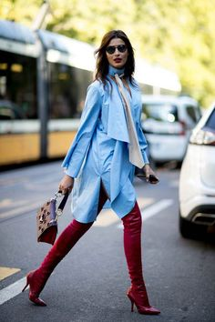 Over the knee boots / street style fashion / Fashion week #fashionweek #fashion #womensfashion #streetstyle #ootd #style / Instagram: @fromluxewithlove
