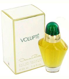 Volupte Oscar de la Renta for women: Top notes are mimosa, melon, mandarin orange, freesia, osmanthus, watermelon and cyclamen; middle notes are carnation, jasmine, heliotrope, ylang-ylang, lily-of-the-valley, narcissus, lotus and peony; base notes are sandalwood, amber, patchouli, incense, tuberose and vanilla.