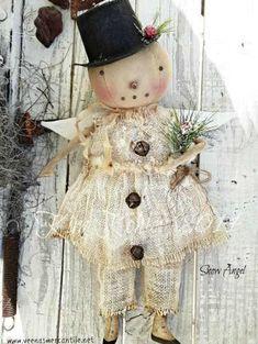 Primitive Snowmen, Primitive Christmas, Christmas Snowman, Rustic Christmas, Christmas Crafts, Vintage Christmas, Wooden Snowmen, Primitive Crafts, Christmas Trees
