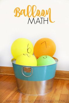 Balloon math activities for kids make learning and practicing math concepts fun with gross motor movement and math practice that kids will love!