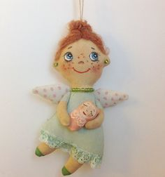 Cloth doll-Doll Angel-Soft Doll-Miniature by NatashaArtDolls